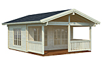 Agneta 18.8+12.5sqm log cabin kits