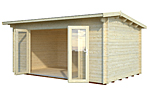 Ines 13.7sqm log cabin kits