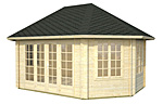 Hanna 20.3sqm log cabin kits
