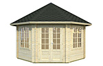 Hanna 14.1sqm log cabin kits