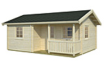 Sandra 21.5+3.7sqm log cabin kits