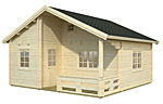 Emily 40.1+5.2sqm log cabin kits