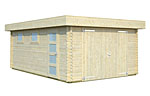 Rasmus 19.0sqm log cabin kits