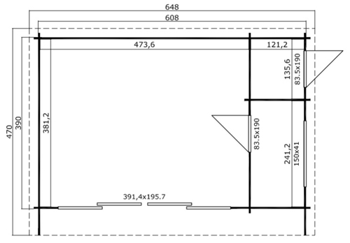 Java 44 log cabin plan