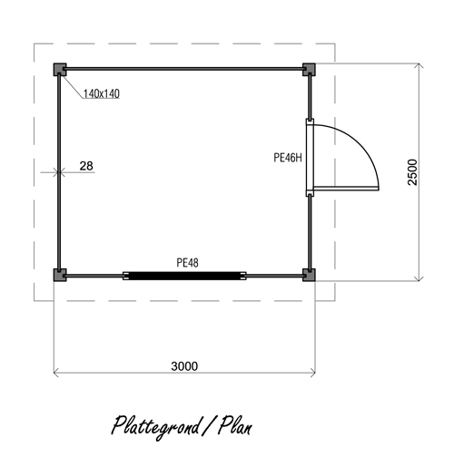 Alexandra PA08 log cabin plan