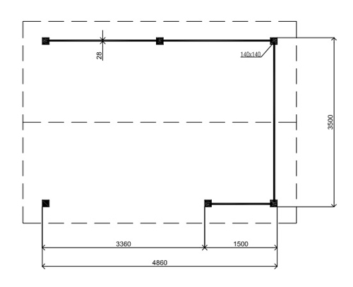 Hamilton PH01 log cabin plan