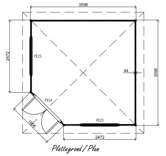 Fifth Ave PFA04 log cabin plan