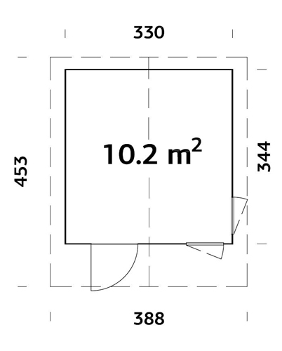 Ly 10.2sqm log cabin plan