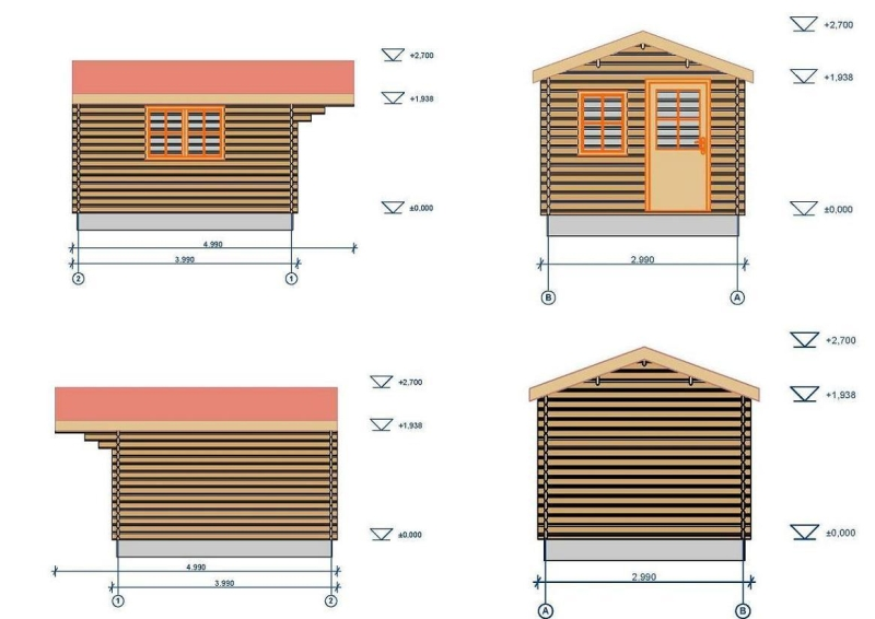 Low Faro log cabin plan
