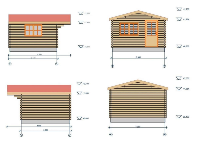 Low Devon log cabin plan