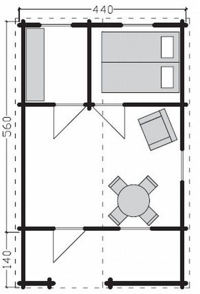 Elba log cabin plan