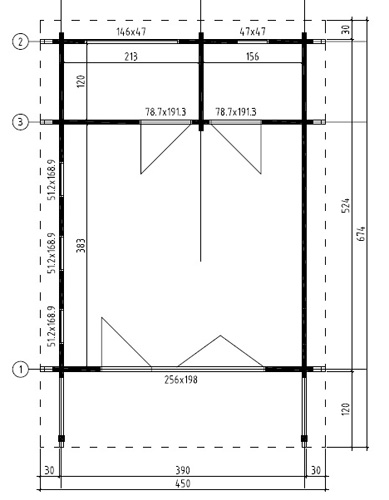 Exeter 1 log cabin plan