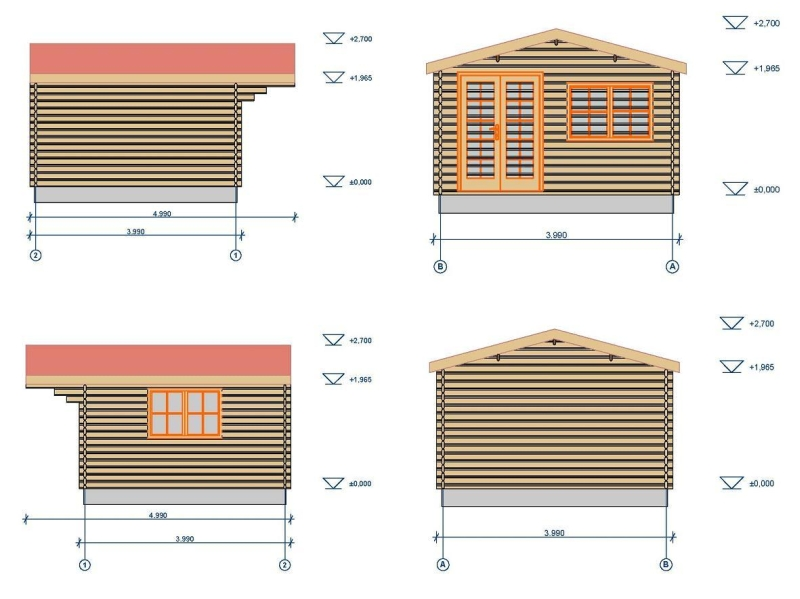 Low Monaco log cabin plan