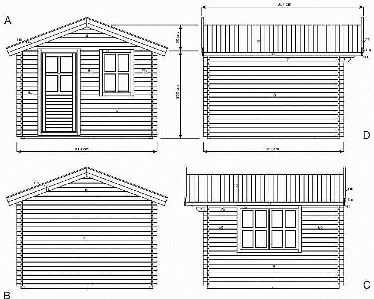 Callander log cabin plan
