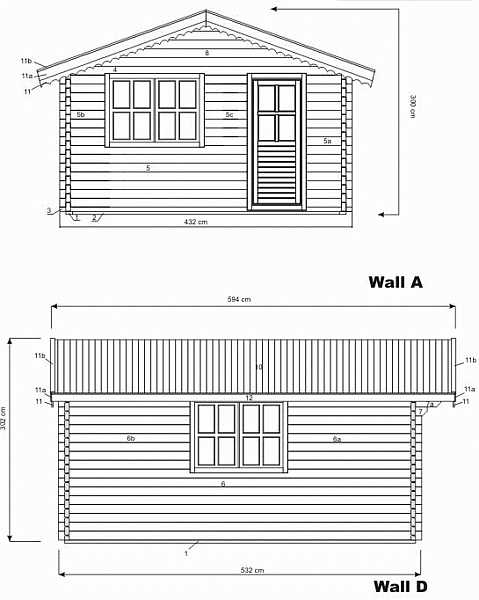 Low Plymouth log cabin plan