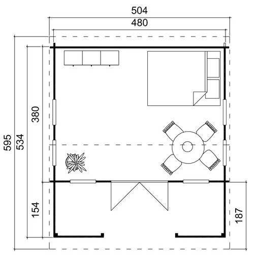 Reading log cabin plan